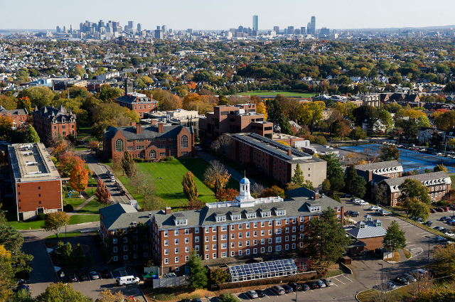 Aerial image of the Tufts Medford/Somerville campus