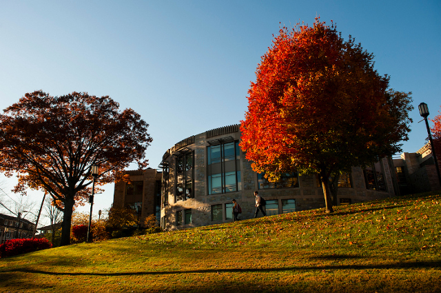 Autumn foliage on trees on the Academic Quad