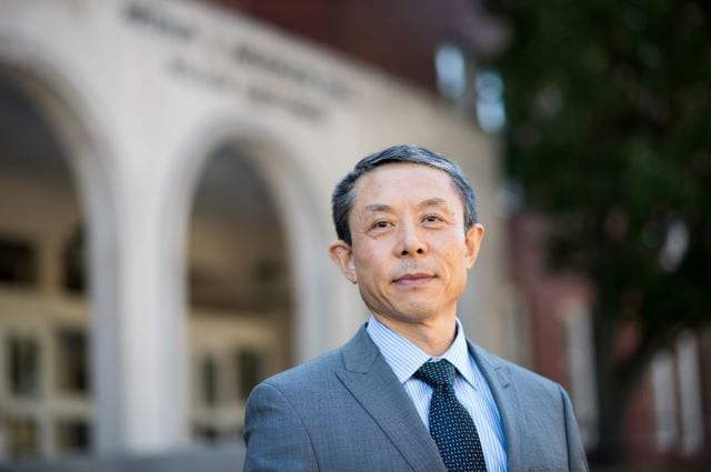 Jianmin Qu, dean of the School of Engineering at Tufts for six years